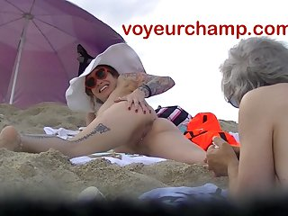 VoyeurChamp.com - Exhibitionist Wife Mrs Ginary Unveil Beach!