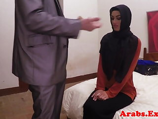 Arab habiba fucked take pleasure in a whore for cash