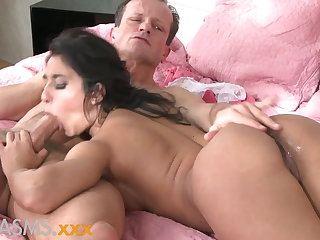 ORGASMS Tanned hungarian beauty loves to urgency his cock