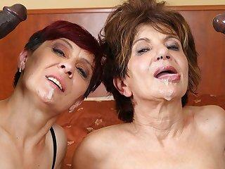 Grannies Hardcore Fucked Interracial Porn with Grey Women sex