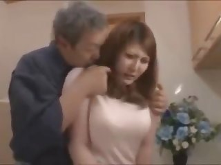 Aged man binds his busty daughter in statute and fucks her till she loves it