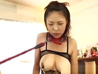 Asian busty babe girl taken advantage of