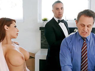 Horny butler is attainable wide anal fuck housewife