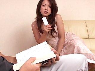 Solo horny amateur Japanese housewife Yuri Shibasaki masturbates