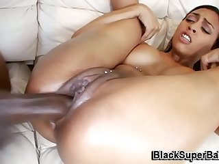 to the fore black mendicant destroys her pierced pussy hot brunette enjoyed fingering