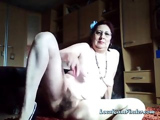 Kinky flimsy granny enjoys peeing on every side the pail