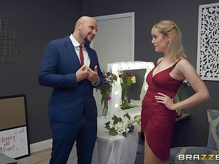 horny lady's man enjoys good blowing added to coition by lovable added to busty Maxim Law
