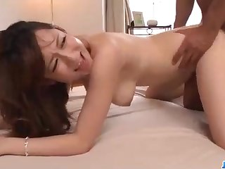 Astonishing Chinese honey, Reon Otowa got down and soaking with her married neighbor next door