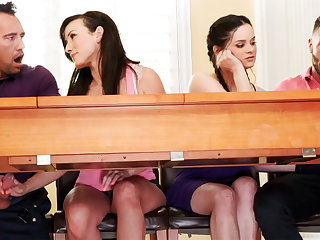 Fathers helter-skelter foursome sexual congress with school girls