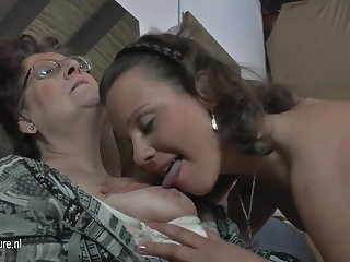 Natural amateur 3 old and young lesbians fuck each second choice