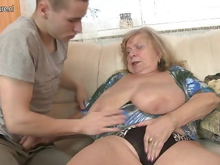 Old dominate grandma fucked wits young house-servant