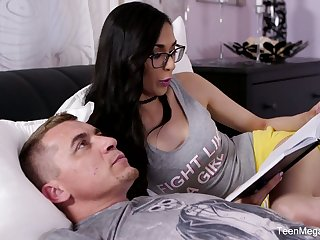 Slutty teacher Ashely Ocean seduces nerdy student and bangs him without mercy