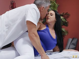 After workout muddied Angela White wants to into exaggerate a get in a friend's pecker
