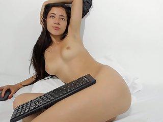 Colombian 18-Years-Old Girl Opens Gaped Booty Helter-skelter Doggy-Style