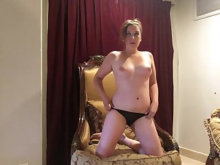 BTS Sexy Chubby Brunette Strips Down to Nude for Professional Photoshoot