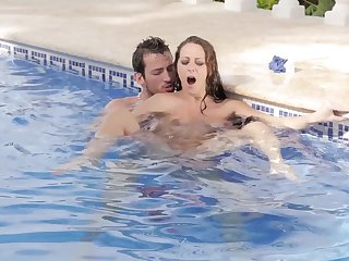 MILF exposed to fervour gets laid with the pool guy and she loves it