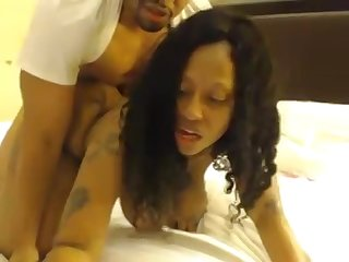 Chubby Ebony Mature With Big Boobs Shags On Webcam