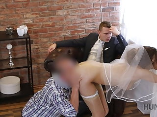 HUNT4K. Rich man pays greatly to fuck hot young babe on her connubial day