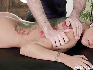 Big titty massage and invert throat fuck chapter featuring Romi Rain