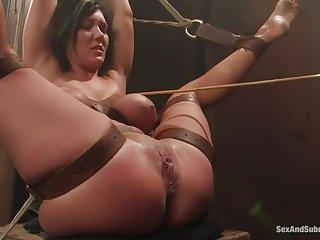 Hardcore intercourse video featuring Adrianna Nicole and Claire Dames