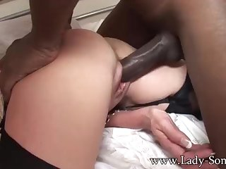 Brit COUGAR gets poked by BIG Inky COCK while Cuck witnesses