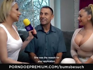 BOOTIES BESUCH - Huge-Chested German pornography starlet Dana Jayn tears up of age inexperienced fanboy